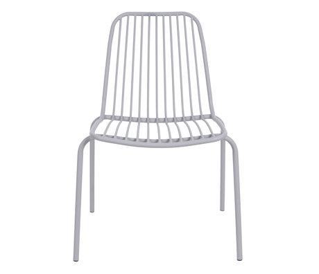 Leitmotiv Chaise de jardin Lineate gris métal 43x43x84cm