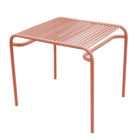 Leitmotiv Side table garden Lineate clay brown metal 58x48x50cm