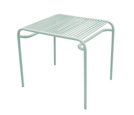 Leitmotiv Beistelltisch Garten Lineate Mintgrün Metall 58x48x50cm