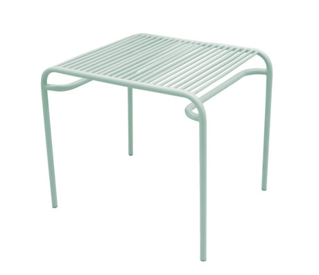 Leitmotiv Table d'appoint de jardin Lineate en métal vert menthe 58x48x50cm