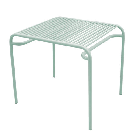 Leitmotiv Side table garden Lineate mint green metal 58x48x50cm