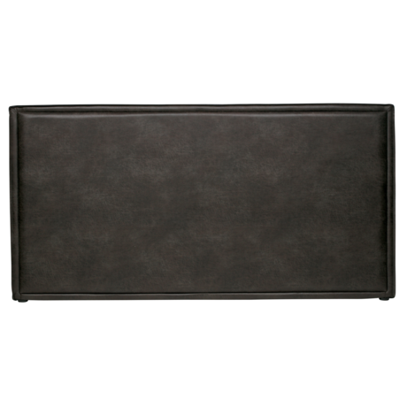 BePureHome Headboard Snooze black eco leather 197x6x100cm