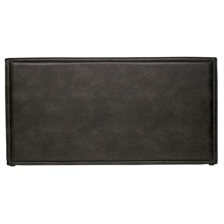 BePureHome Tête de lit Snooze noir en cuir écologique 197x6x100cm