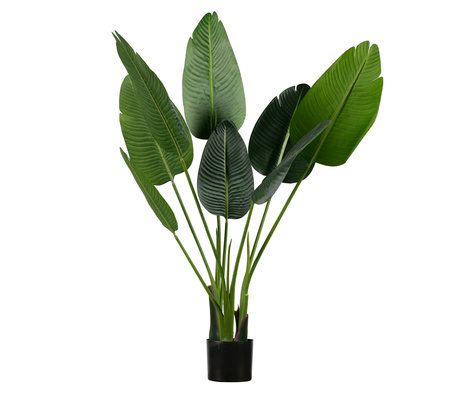 LEF collections Plante artificielle Strelitzia vert synthétique 61x50x108cm