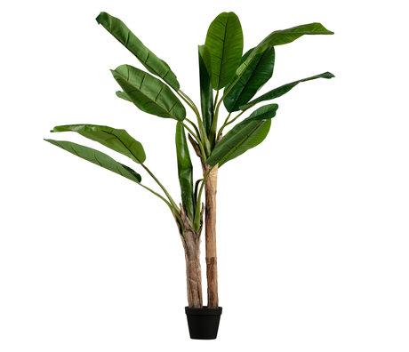 LEF collections Plante artificielle banane en plastique vert 97x95x138cm