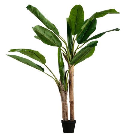 LEF collections Kunstplant Bananenplant groen kunststof 97x95x138cm