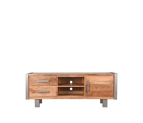 LEF collections Tv-meubel Factory rough mangohout vintage metaal 160x45x60cm