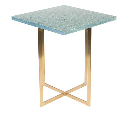 Zuiver Table d'appoint Luigi Square terrazo vert vert 40x40x45 cm