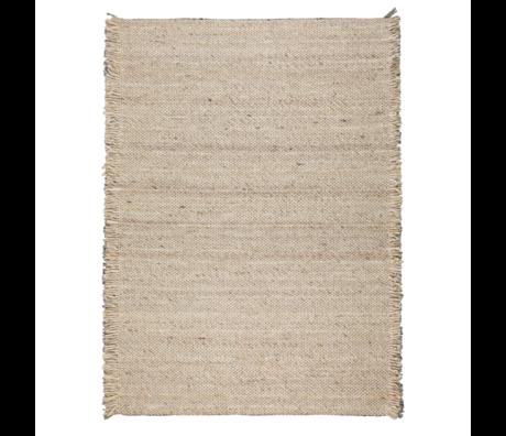 Zuiver Teppich Rüschen beige gelbe Wolle 170x240cm