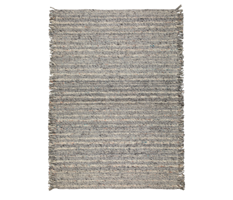 Zuiver Rug Frills gray blue wool 170x240cm