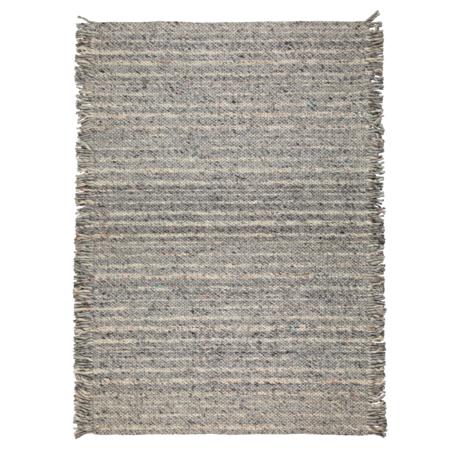 Zuiver Teppich Rüschen grau blau Wolle 170x240cm
