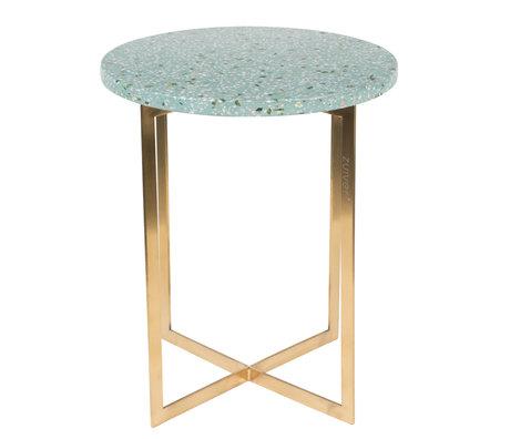 Zuiver Beistelltisch Luigi Round grün Terrazo Eisen Ø40x45cm