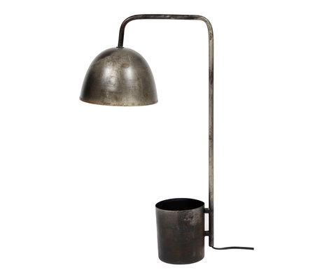 wonenmetlef Lampe de table Drew ancienne en métal argenté 20x31x60cm