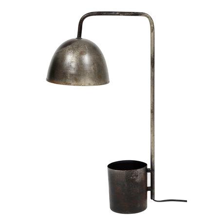 wonenmetlef Tafellamp Drew oud zilver metaal 20x31x60cm