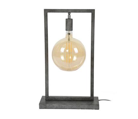 wonenmetlef Lampe de table Ayla ancienne en acier argenté 34x15x55cm