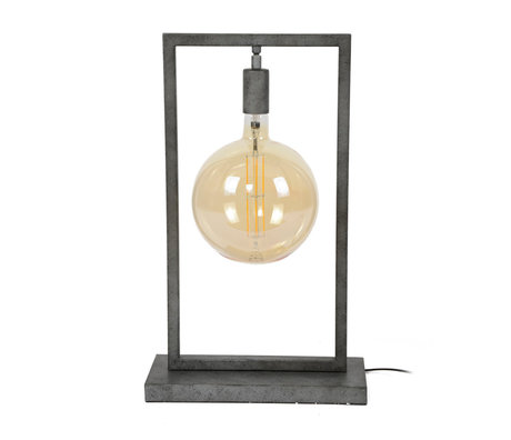 wonenmetlef Table lamp Ayla old silver steel 34x15x55cm