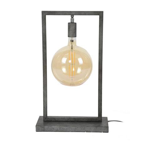 wonenmetlef Tafellamp Ayla oud zilver staal 34x15x55cm