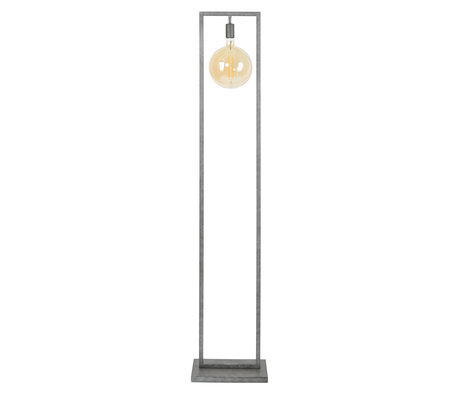 wonenmetlef Floor lamp Ayla old silver steel 34x23x166cm
