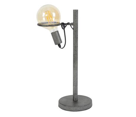 wonenmetlef Tafellamp Dani oud zilver staal Ø28x54cm