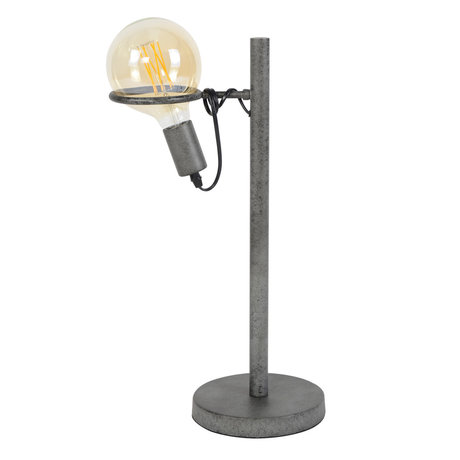 wonenmetlef Table lamp Dani old silver steel Ø28x54cm
