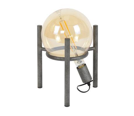 wonenmetlef Tafellamp Dani oud zilver staal Ø28x34cm