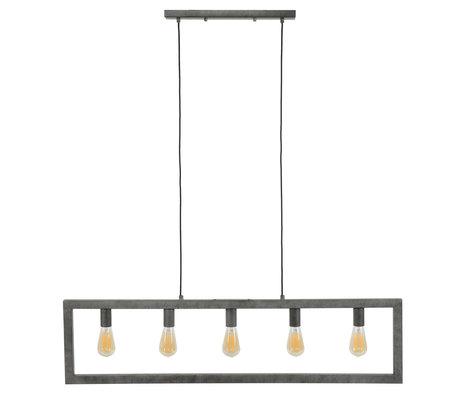 wonenmetlef Hanglamp Chey 5-lichts oud zilver staal 120x12x150cm