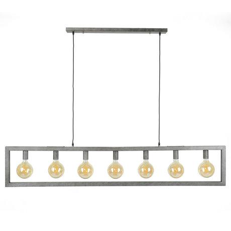 wonenmetlef Hängelampe Chey 7-Licht Altsilber Stahl 165x12x150cm