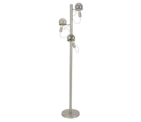 wonenmetlef Vloerlamp Lexi 3-lichts zilver RVS Ø36x178cm
