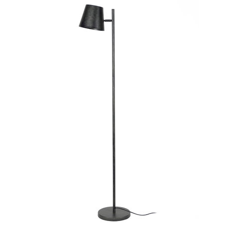 wonenmetlef Floor lamp Mika charcoal gray metal 37x18x157cm