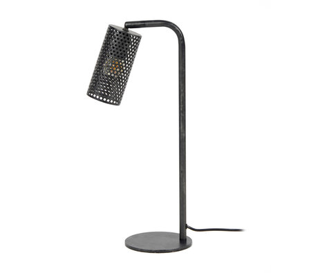 wonenmetlef Table lamp Shay charcoal gray metal 15x30x53cm