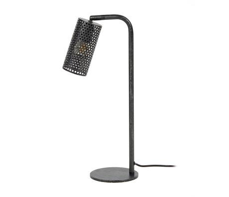 wonenmetlef Tafellamp Shay charcoal grijs metaal 15x30x53cm
