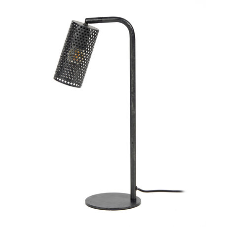 wonenmetlef Lampe de table Shay anthracite métal 15x30x53cm
