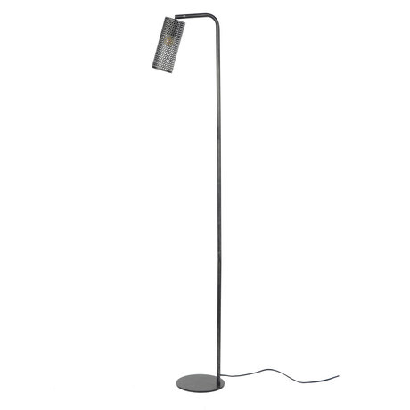 wonenmetlef Shay charcoal floor lamp gray metal 20x39x150cm