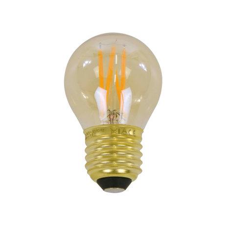 wonenmetlef Birne LED Ross Bernstein gelb Glas E27 Ø4.5x7.5cm