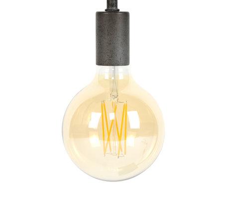 wonenmetlef Birne LED Zane Bernstein gelb Glas E27 Ø12.5x17.5cm