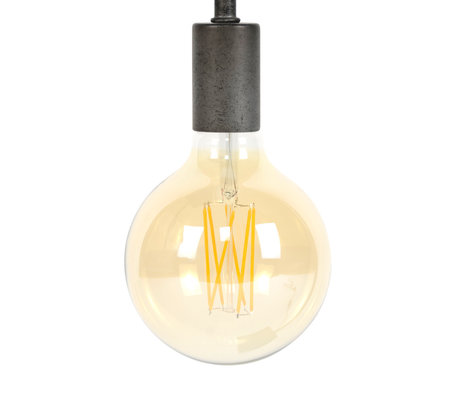 wonenmetlef Bulb LED Zane amber yellow glass E27 Ø12.5x17.5cm