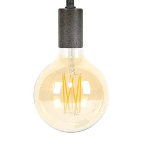 wonenmetlef Bulb LED Zane amber geel glas E27 Ø12,5x17,5cm