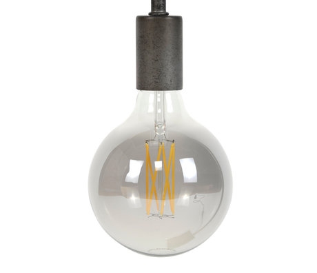 wonenmetlef Birne LED Zane rauchgrau Glas E27 Ø12.5x17.5cm