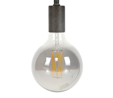 wonenmetlef Bulb LED Zane smoke grijs glas E27 Ø12,5x17,5cm