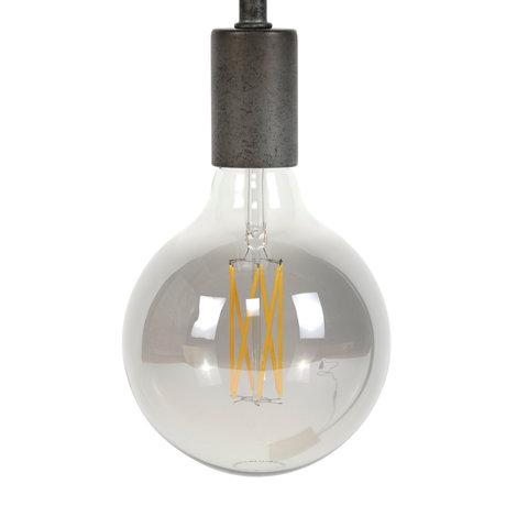 wonenmetlef Ampoule LED Zane fumée gris verre E27 Ø12.5x17.5cm