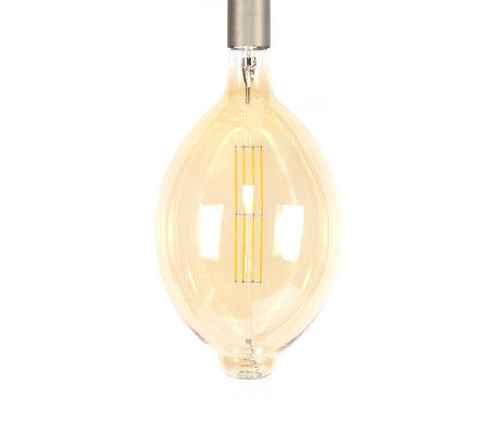 wonenmetlef Ampoule LED Gaby verre jaune ambre E27 Ø18x33cm
