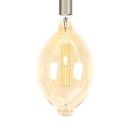 wonenmetlef Birne LED Gaby Bernstein gelb Glas E27 Ø18x33cm