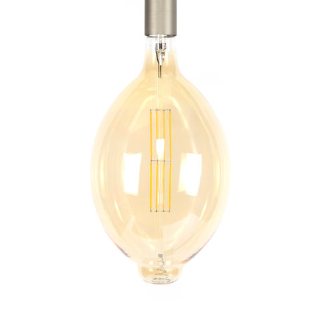 wonenmetlef Bulb LED Gaby amber yellow glass E27 Ø18x33cm