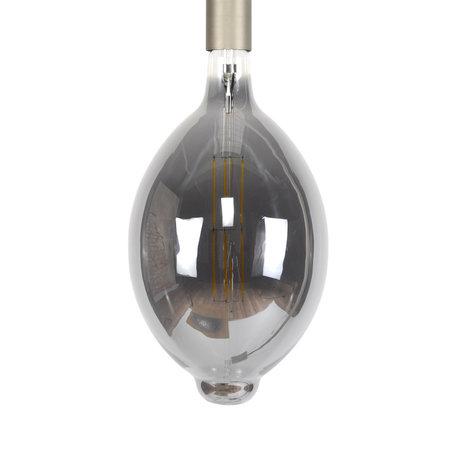 wonenmetlef Ampoule LED Gaby fumée gris verre E27 Ø18x33cm