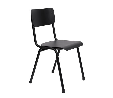Zuiver Dining room chair Back to school (outdoor) black metal 43x49x82.5cm