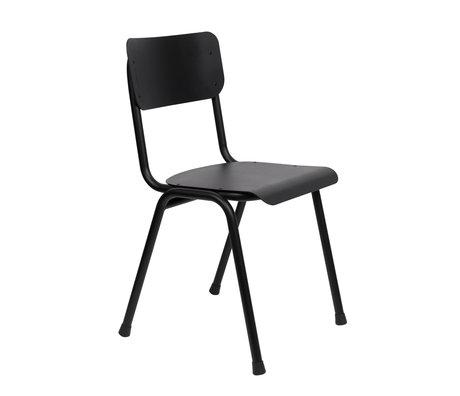 Zuiver Esszimmerstuhl Back to School (im Freien) aus schwarzem Metall 43x49x82.5cm