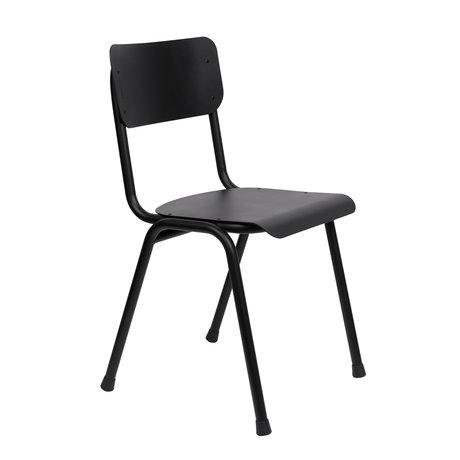 Zuiver Chaise de salle à manger Retour à l'école (extérieur) black metal 43x49x82.5cm