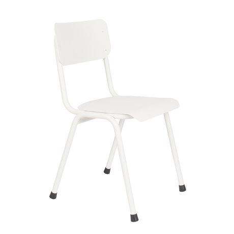 Zuiver Chaise de salle à manger Retour à l'école (extérieur) métal blanc 43x49x82.5cm