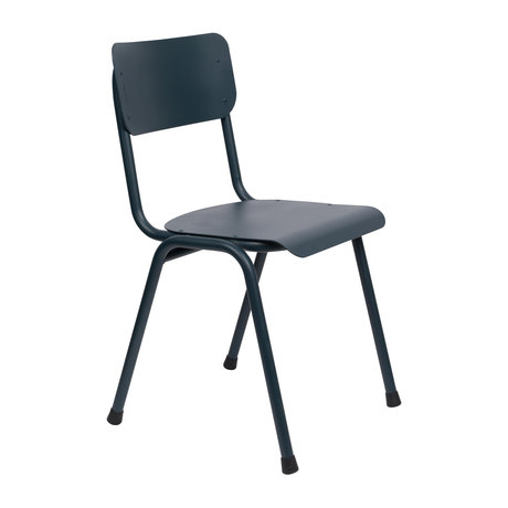 Zuiver Dining room chair Back to school (outdoor) gray blue metal 43x49x82.5cm