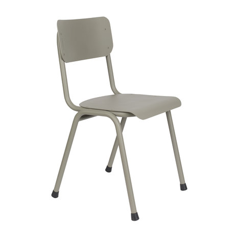 Zuiver Dining room chair Back to school (outdoor) moss green metal 43x49x82,5cm